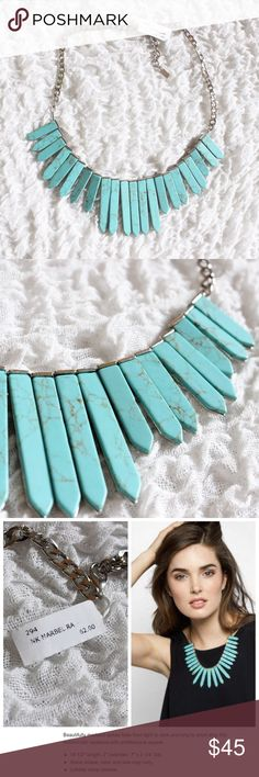 'Marble Ra' Bib Necklace in Turquoise Stunning bib necklace in a gorgeous turquoise stone, new with tags! Baublebar Jewelry Necklaces