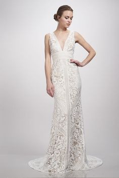 Theia Bridal Leia Bohemian Lace Wedding Dress