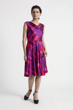 Cowl Neck Silk Satin Dress | Tuned In Living