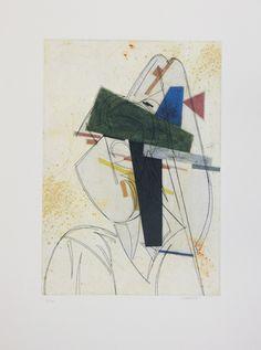 """Manolo Valdés Grabado al Aguafuerte y Collage """"Cubismo como Pretexto 2"""" 2004 64 x 48.6 cm Tirada de 100 ejemplares Numerado y firmado a mano Precio: 2.200 €"""