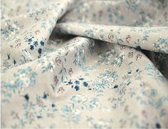 Flower Cotton Fabric By the Yard 72166 by landofoh on Etsy