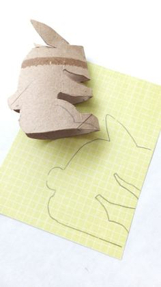 Paper Roll bunny : pattern and how to