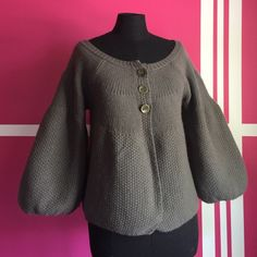 FREE PEOPLE Gray bell bottom cardigan So cute! Some minor piling on the exterior, underarms. In good pre loved condition. Free People Sweaters Cardigans