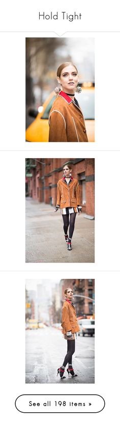 """""""Hold Tight"""" by brownish ❤ liked on Polyvore featuring outerwear, jackets, brown, brown shearling jacket, shearling jacket, zipper jacket, zip jacket, j.w. anderson, tops and sweaters"""