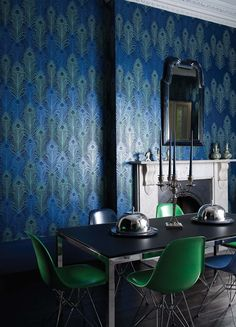 Peacock - Matthew Williamson at Osborne  Little. Available at the DD Building suite 520 #ddbny #osbornelittle