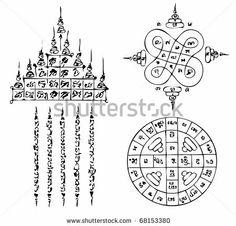 Thai Tattoo Ancient. Vector template