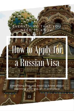 The best guide for how to apply for a Russian traveler's visa and how to visit without one. Everything that you need to know about planning your trip to Russia, and more on daniellefarideh.com