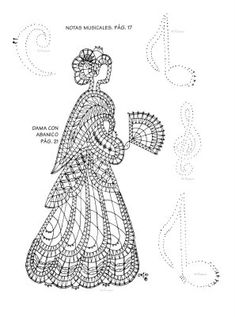 Punto de encuentro de encajeras (pág. 160) | Aprender manualidades es facilisimo.com Bobbin Lace Patterns, Knitting Patterns, Irish Crochet, Crochet Lace, Bobbin Lacemaking, Lace Heart, Lace Jewelry, Crochet Diagram, Celtic Designs