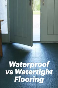 Water can cause a lot of damage to floors. When looking to install flooring in areas prone to getting wet, like basements, bathrooms, mudrooms, and entryways, it's a good idea to consider solutions that can endure water. Water damage happens when water pools on top of the floor or when water seeps from underneath - like it often can in a basement or garage. Plastic Mat, Industrial Flooring, Basement Flooring, Getting Wet, Entryway, Water, Courtyards, Entrance, Gripe Water
