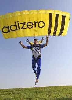Sergio Garcia Adizero Golf Shoes Parachute Skydiving, Tv Commercials, Experiential, Golf Shoes, Stunts, Branding, Brand Management, Golf Trainers, Tv Adverts