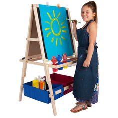 Kids Art Easel - Wooden Easel with Storage Bins - JerrysArtarama.com