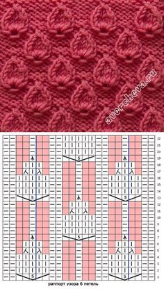 узор 449 | каталог вязаных спицами узоров Lace Knitting Patterns, Knitting Charts, Easy Knitting, Knitting Stitches, Knitting Designs, Knitting Projects, Stitch Patterns, Knit Picks, Crochet Lace