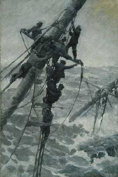 Illustration House, Inc - Men on Rigging of Ship - William J. Aylward