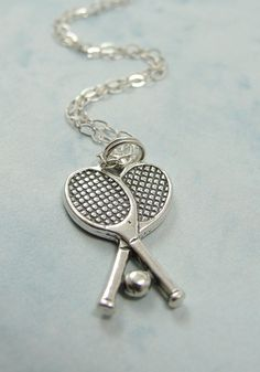 Tennis Rackets Necklace