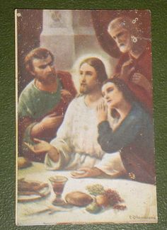 The Love of St Mary Magdalene to Jesus Holy Card | eBay