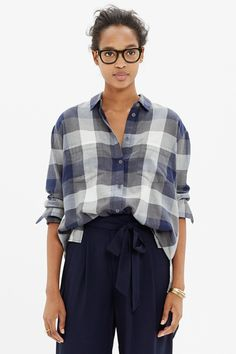 What To Buy At Madewell With $100 Or Less #refinery29 http://www.refinery29.com/madewell-under-100-dollars#slide-4 No need to steal from the boys: Madewell perfected the baggy shirt formula.