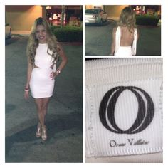 White mini dress w/ open back by oseas Villatoro