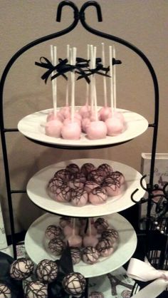 Made these cake ball/pops for my daughter's Sweet 16 Paris theme party!