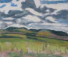 Clouded Sky by Francois Fournier Oil ~ 10 x 12