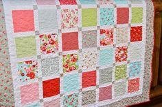 Quilt Ruby Handmade Baby Lap Throw CUSTOM von PiecesOfPine