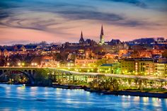 Georgetown, Washington, DC skyline on the Potomac River