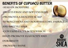 Benefits of Cupuacu Butter for hair Shea Butter Face, Body Butter, Natural Hair Care, Natural Hair Styles, Cupuacu Butter, Homemade Beauty, Diy Beauty, Beauty Tips, Soften Hair
