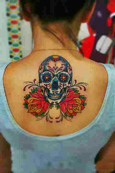 Day of the dead back tattoo