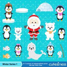 Eskimo Clipart Winter clipart Penguin Clipart Polar bear