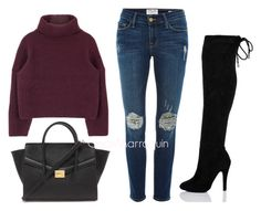 """Boots for Days"" by cynthiamarroquin on Polyvore featuring Frame Denim and Forever 21"