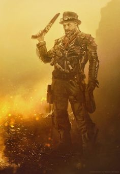 Liam _  post-apocalyptic Bounty Hunter by Straban