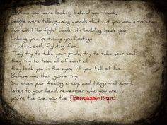 UNBREAKABLE HEART    (3 Days Grace)  ART BY: asinnotatragedy