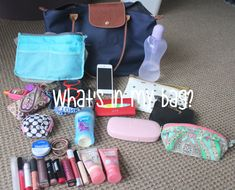 What's In My Longchamp Le Pliage Bag 2014