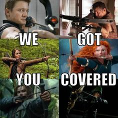 Group of: Daryl, merida, katniss, arrow, | via Tumblr | We Heart It