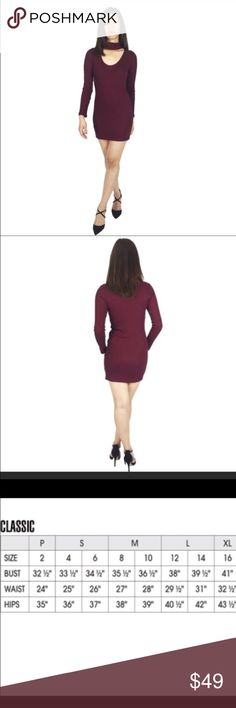 NWT Burgundy Choker dress Beautiful choker dress in burgundy. Great for many occasions! Dresses