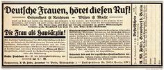 Original-Werbung/Anzeige 1925 - DIE FRAU ALS HAUSÄRZTIN / BUCHHANDLUNG FELLER - HERMSDORF BEI BERLIN - ca. 180 x 75 mm