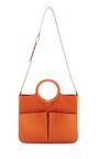 This item by Fairchild Baldwin features a smooth calf leather in bright orange with natural linen lining for the ideal day bag with a double top handle and shoulder strap. Open ToteLeatherDouble Outside Pockets, Zip Closure and Detachable PocketsMade in ItalyPlease note: This item may be returned for M'O Credits or full refund.