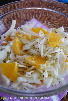 Fennel, orange, and toasted sesame seeds Raw Food Recipes, Brunch Recipes, Italian Recipes, Salad Recipes, Vegetarian Recipes, Cooking Recipes, Healthy Recipes, Rigatoni, Light Recipes