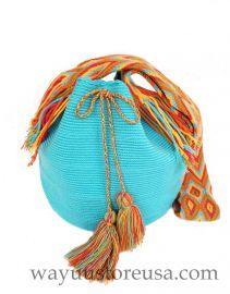 Authentic Crochet Wayuu Mochilas ~ Crossbody 11 in.H x 9 in.W ~ 20 in. strap drop ~
