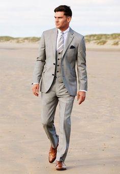 EX: grey suit, silver tie