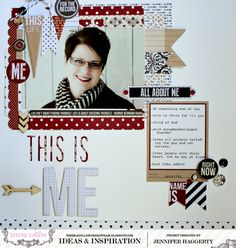 Hello! It's  Jennifer  and I'm excited to share another layout with you today! Using the Hello My Name Is collection, I wanted to make a p...