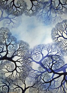 Winter Lace, 30x22, watercolor, © Helen Klebesadel, $3000