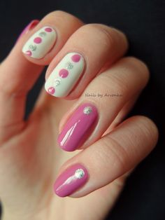 Pink and Silver Dots