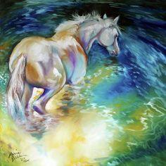 Waterbaby Equine - oil by ©Marcia Baldwin (FineArtAmerica)