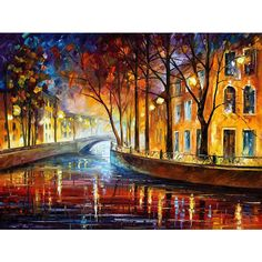 Bright and Positive Paintings by Leonid Afremov ❤ liked on Polyvore