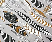 """Home Fabric- """"Feathers Beautiful""""  Cotton Linen - Fat Quarter-ships in 7 days"""