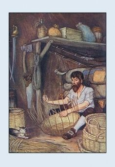 Robinson Crusoe: I Employed Myself 24x36 Giclee
