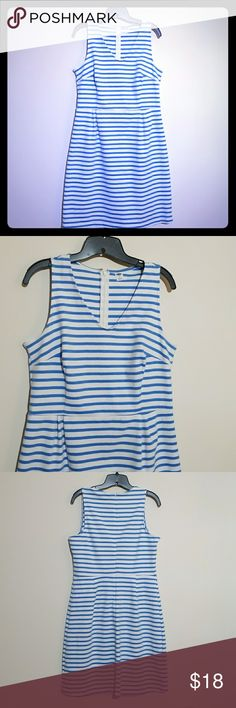 NWOT-Old Navy Sheath Dress NWOT-white and light blue stripe, knit sheath dress from Old Navy. Size Large. Old Navy Dresses