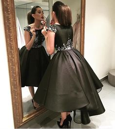 Satin Homecoming Dresses,Short Prom Gown,Black Homecoming Gowns,Sweet 16 Dress,Elegant Homecoming Dresses,Short Evening Dress