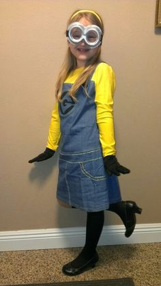 Minion costume- Halloween is right around the corner.