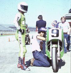 76 Daytona, Erv Kanemoto with Gary Nixon Kawasaki KR750